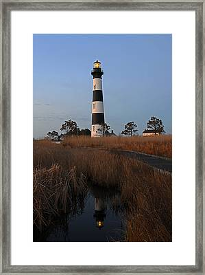 Bodie Island Light Reflection Framed Print