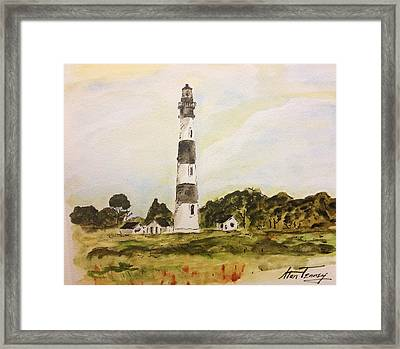 Bodie Island Light Framed Print by Stan Tenney