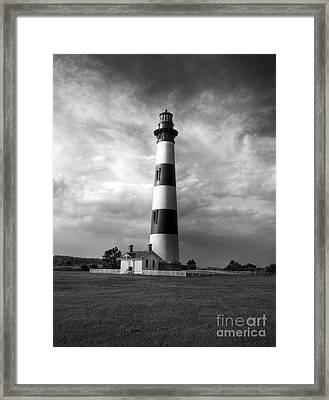 Bodie Island Lighthouse 2 Bw Framed Print by Mel Steinhauer
