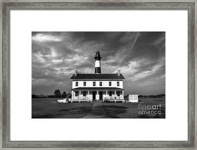 Bodie Island Lighthouse 3 Bw Framed Print by Mel Steinhauer
