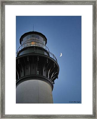 Bodie Island Lighthouse And Luna Framed Print