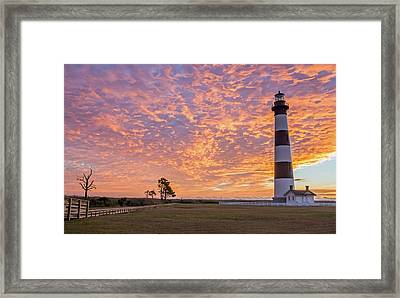 Bodie Island Lighthouse At Sunrise Framed Print