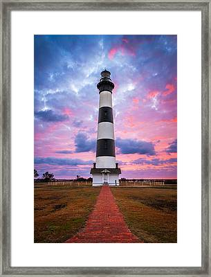 Bodie Island Lighthouse Sunrise Obx Outer Banks Nc - The Gatekeeper Framed Print