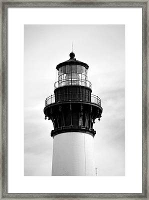 Framed Print featuring the photograph Bodie Lighthouse Lens In Black And White by Bob Sample