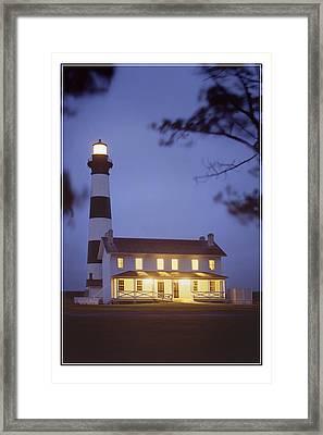 Bodie Light Just After Dark Framed Print by Mike McGlothlen