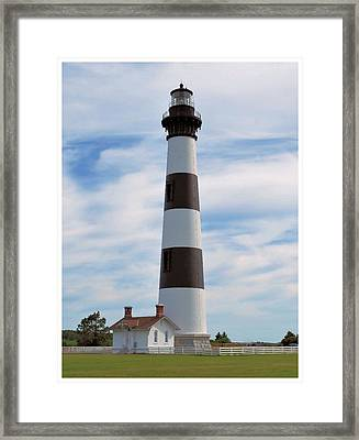 Framed Print featuring the photograph Bodie Lighthouse by Bob Sample
