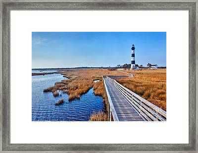 Bodie Lighthouse Outer Banks North Carolina I Framed Print by Dan Carmichael