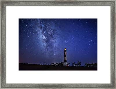 Bodie Lighthouse Touching Heaven Framed Print by Jay Wickens