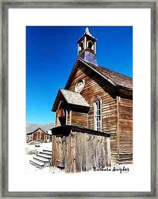 Bodie Methodist Church Framed Print by Barbara Snyder