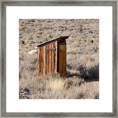 Bodie Outhouse Framed Print by Art Block Collections