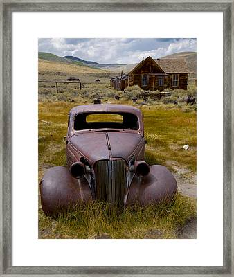 Bodie Rest Stop Framed Print by Jim Snyder