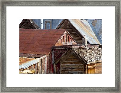 Bodie Rooflines Framed Print by Jim Snyder