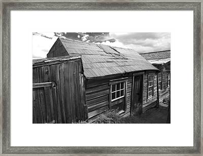 Bodie Row House Framed Print by Jim Snyder