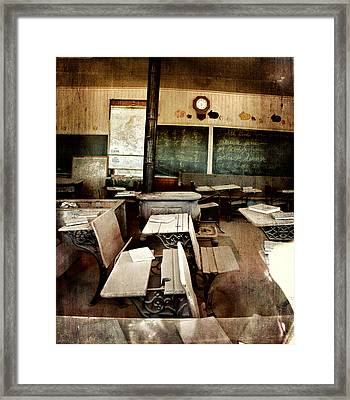 Bodie School Room Framed Print by Lana Trussell