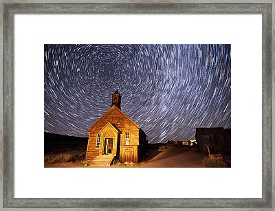 Bodie Star Trails Framed Print