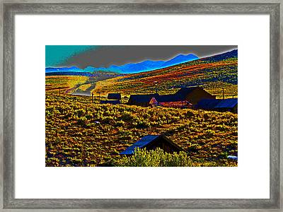 Bodie Sunset Framed Print by Joseph Coulombe