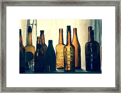 Bodies Bottles Framed Print by Jim Snyder