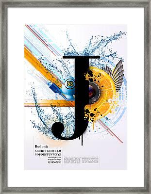 Bodoni J Framed Print by Samuel Whitton