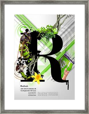 Bodoni R Framed Print by Samuel Whitton