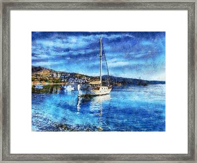 Bodrum Bay In Turkey Framed Print