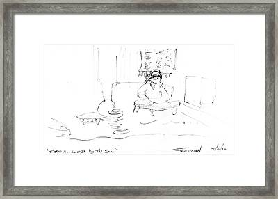 Bodrum Lunch By The Sea Framed Print