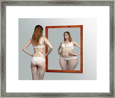 Body Dysmorphia Framed Print by Victor De Schwanberg