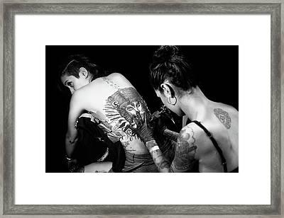 Bodypaint Framed Print