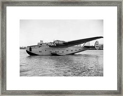 Boeing 314 Clipper 1939 Framed Print by Mountain Dreams