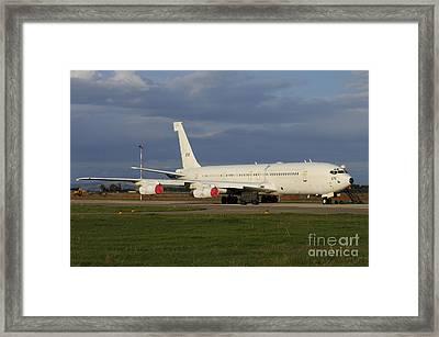Boeing 707 From The Israeli Air Force Framed Print by Riccardo Niccoli