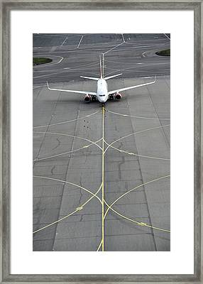 Boeing 737 At Moscow Airport Framed Print