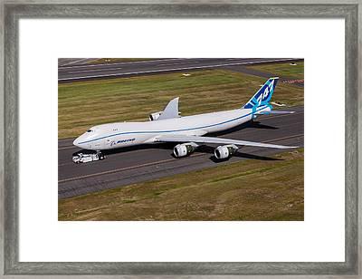 Boeing 747-8f Framed Print by John Ferrante