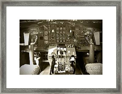 Boeing B727 Cockpit  Framed Print by Micah May
