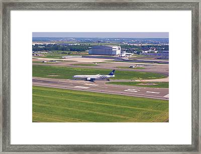 Boeing 777 At Paris Charles De Gaulle Framed Print by Mark Williamson