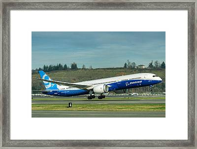 Boeing 787-9 Gets Airborne Framed Print by Jeff Cook