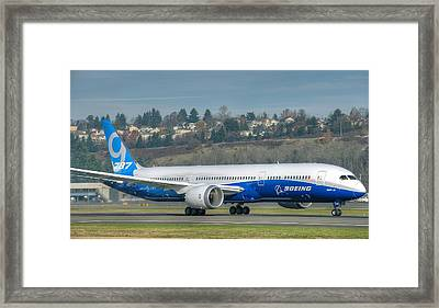 Boeing 787-9 Takeoff Framed Print by Jeff Cook