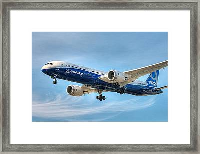 Boeing 787-9 Wispy Framed Print