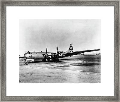 Boeing B-29 'enola Gay' Framed Print by Us Department Of Energy