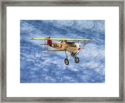 1920s Biplane Framed Print by Susan Savad