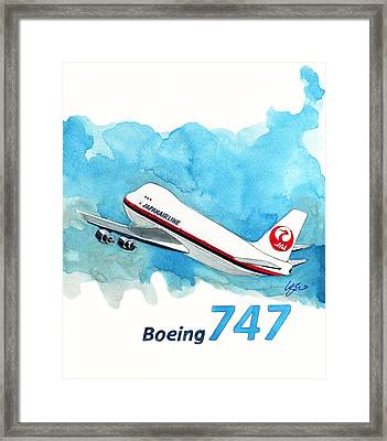 Boeing 747 Jumbo Framed Print by Yoshiharu Miyakawa