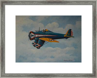 Boeing P26 Framed Print by Murray McLeod
