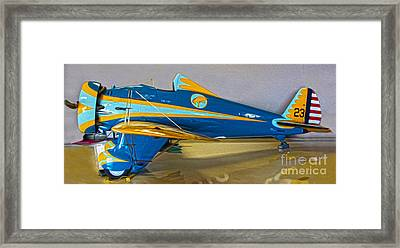 Boeing Peashooter P-26a  -  01 Framed Print by Gregory Dyer