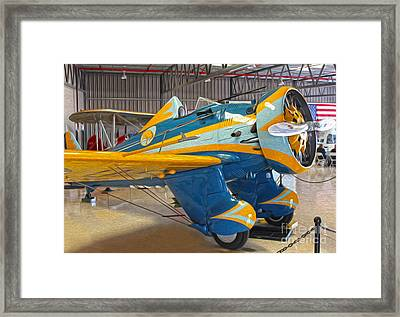 Boeing Peashooter P-26a  -  03 Framed Print by Gregory Dyer