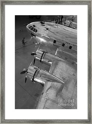 Framed Print featuring the photograph Boeing's Flying Cloud - Monochrome by ELDavis Photography