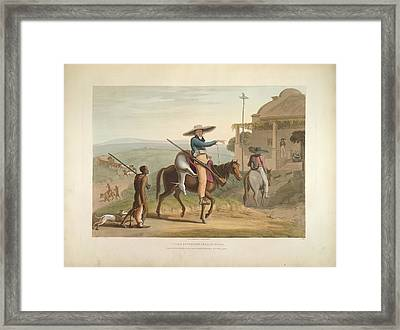 Boers Returning From Hunting Framed Print