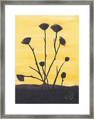 Bog Flower Bouquet Framed Print