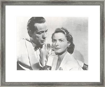 Bogart And Bergman Framed Print by Georgia Fowler