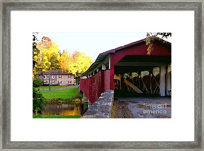 Bogerts Covered Bridge Allentown Pa Framed Print