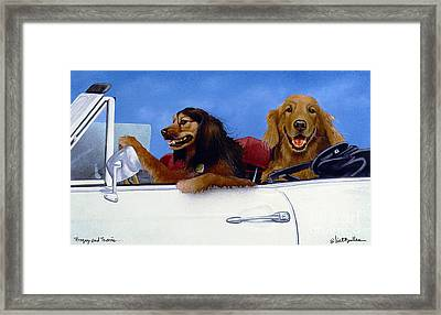 Bogey And Travis... Framed Print by Will Bullas