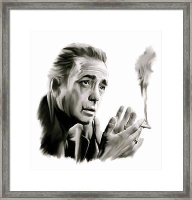 Bogey II   Humphrey Bogart   Framed Print by Iconic Images Art Gallery David Pucciarelli