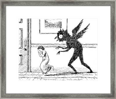 Bogey-owl, 1895 Framed Print